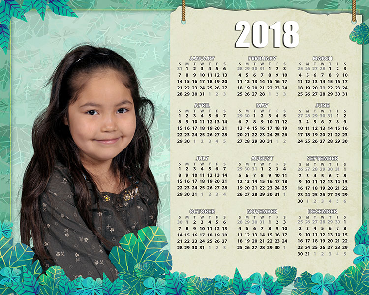 Personalized photo calendar style 1