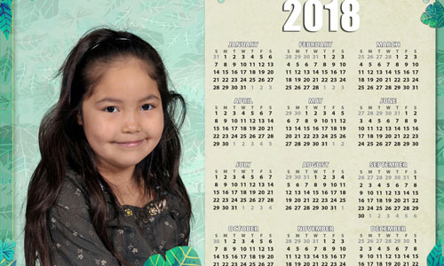 Photo portrait calendar