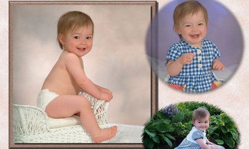 Photo montage of baby photos